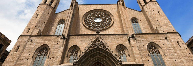 Basilica of Santa Maria del Mar,Barcelona, Spain
