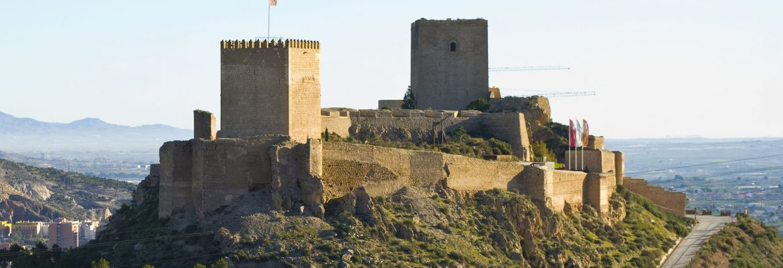 Castle Lorca Fortaleza del Sol,Murcia, Spain