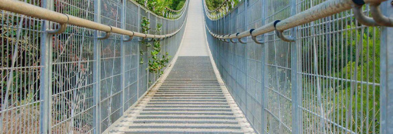 Hanging Bridge at Nesher Park, Haifa District, Israel