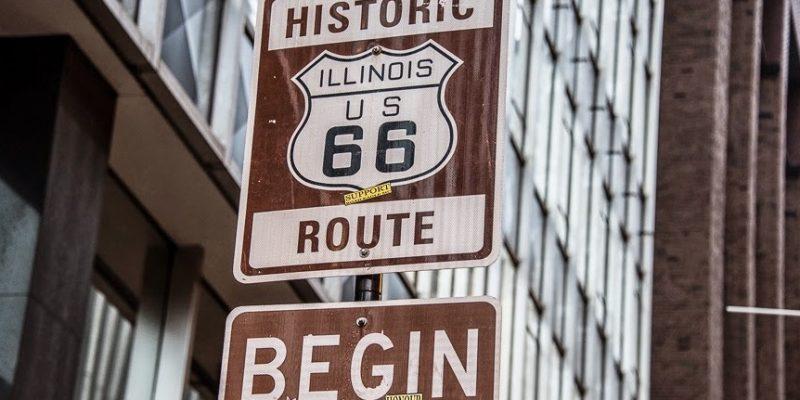 Start of Route 66,  Grant Park, Chicago, USA