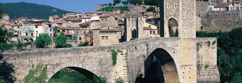 Bridge of Besalú, Girona, Spain