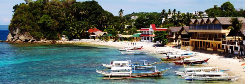 Big Laguna beaches,Puerto Galera, Philippines